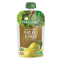Happy Baby™ Clearly Crafted Stage 2 Organic 4 oz. Pears, Kale, and Spinach