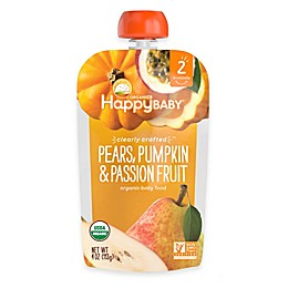 Happy Baby™ Clearly Crafted Stage 2 Organic 4 oz. Pears, Pumpkin, and Passion Fruit