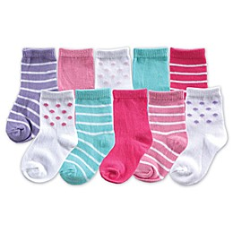 BabyVision® Luvable Friends® Size 0-6M 10-Pack Girls Sock Gift Set