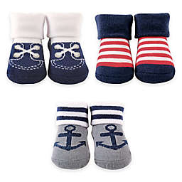 BabyVision® Luvable Friends® 3-Piece Nautical Sock Gift Set
