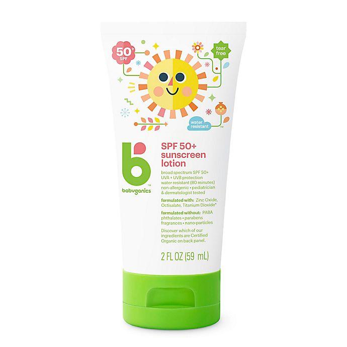 Alternate image 1 for Babyganics® 2 oz. Mineral-Based Sunscreen SPF 50+