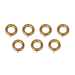 Classic Home Wooden Rings in Antique Gold (Set of 7)
