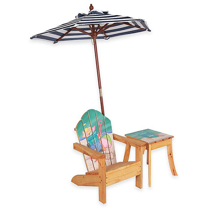 Miraculous Teamson Kids Outdoor Table And Chair Set With Umbrella In Evergreenethics Interior Chair Design Evergreenethicsorg