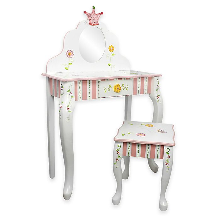 Alternate image 1 for Teamson Kids Vanity Table and Stool Set in Princess and Frog