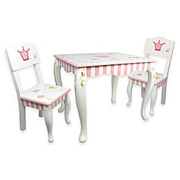 Teamson Kids Table and 2 Chairs Set in Princess and Frog