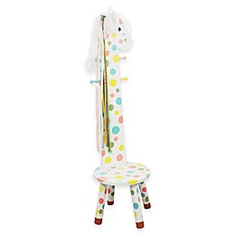 Teamson Kids Pony Wooden Stool and Coat Rack