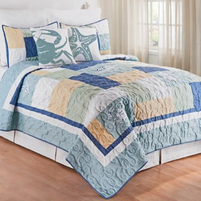 Waters Edge Quilt In Blue Bed Bath Amp Beyond
