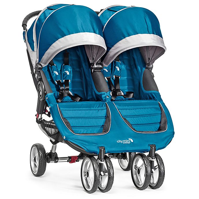 Alternate image 1 for Baby Jogger® City Mini® Double Stroller in Teal/Grey