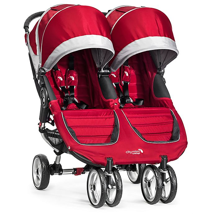 Alternate image 1 for Baby Jogger® City Mini® Double Stroller in Crimson/Grey