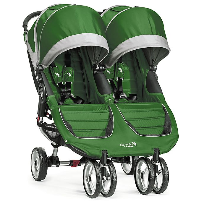 Alternate image 1 for Baby Jogger® City Mini® Double Stroller in Evergreen/Grey