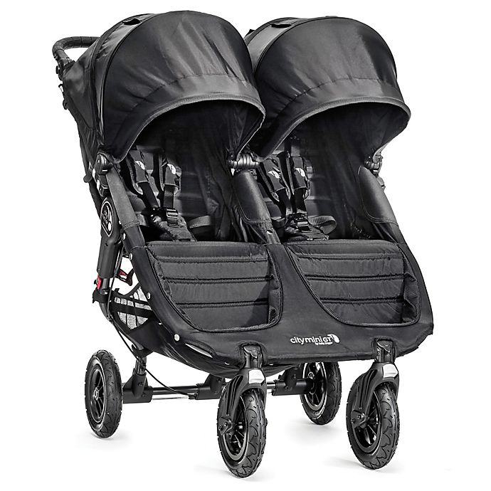 Alternate image 1 for Baby Jogger® City Mini® GT Double Stroller in Black/Black
