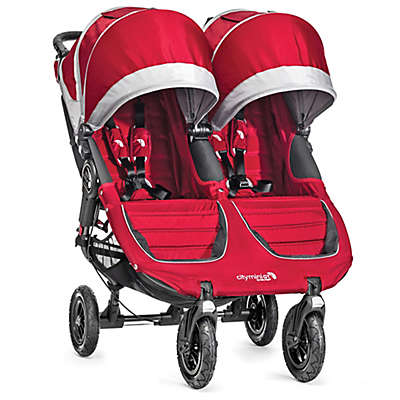 Baby Jogger® City Mini® GT Double Stroller in Crimson/Grey