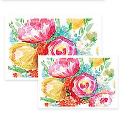 Wonderful Watercolor Florals Canvas Wall Art