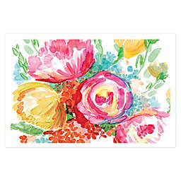 Wonderful Watercolor Florals 36-Inch x 24-Inch Canvas Wall Art