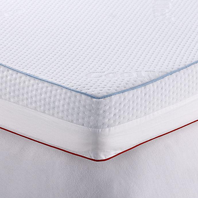Alternate image 1 for Therapedic® 4-Inch Dual Season Mattress Topper in White