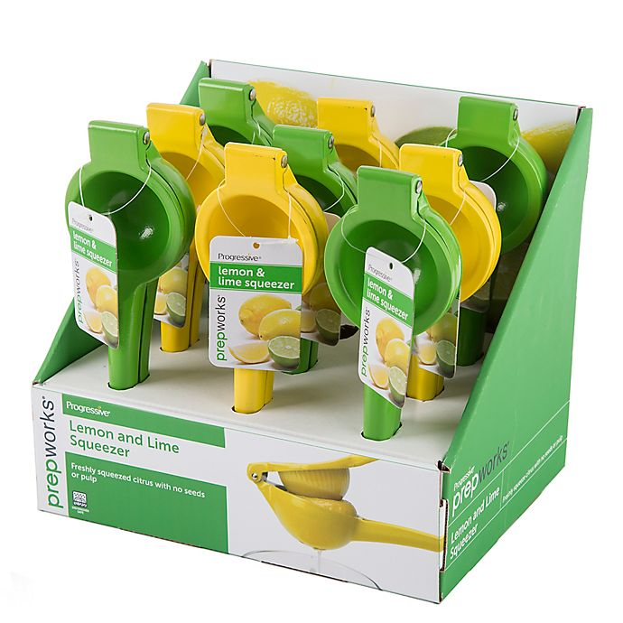 Alternate image 1 for prepworks® Lemon & Lime Squeezer Green/Yellow