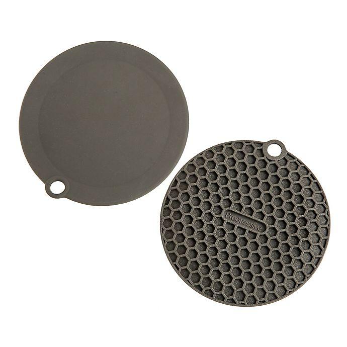 Alternate image 1 for Progressive Mini Multi-Purpose Silicone Mats in Grey (Set of 2)