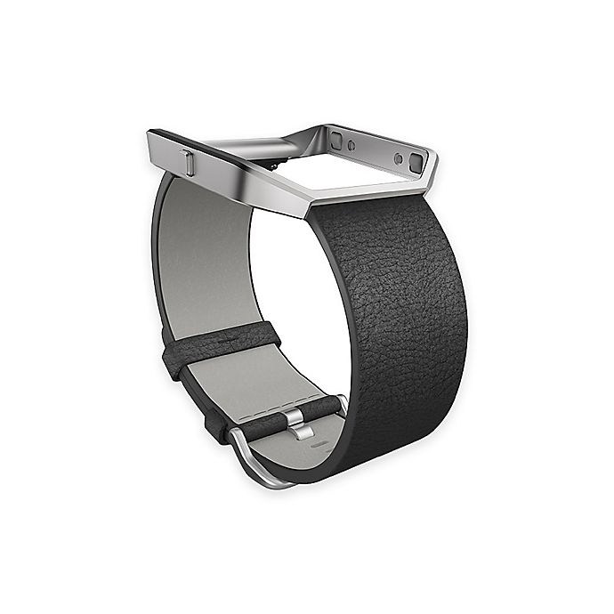 Alternate image 1 for Fitbit® Blaze™ Large Leather Accessory Band in Black