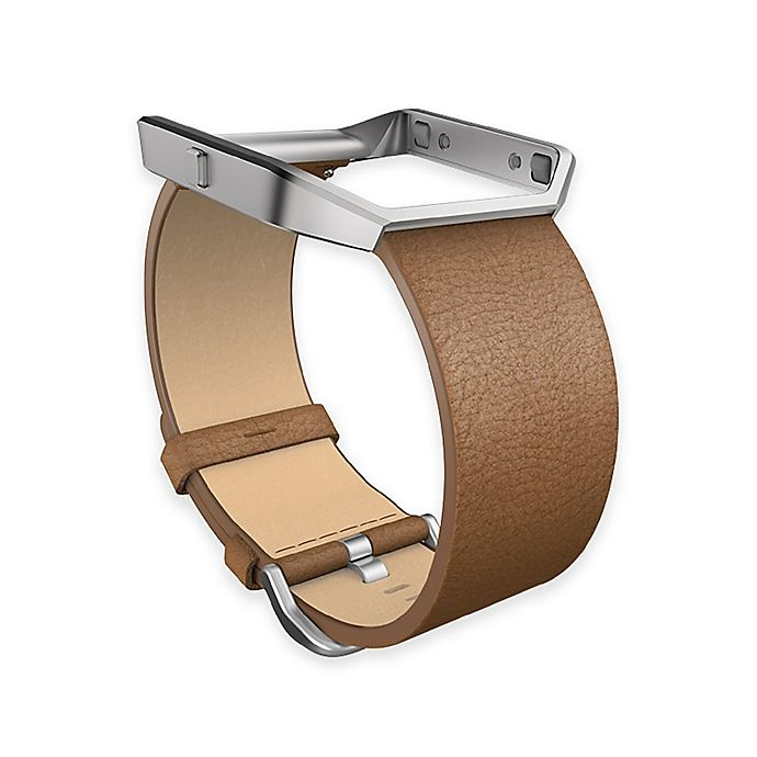 Alternate image 1 for Fitbit® Blaze™ Small Leather Accessory Band in Camel