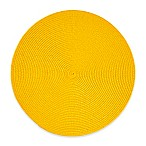 Indoor/Outdoor 15-Inch Round Placemat in Lemon Grass