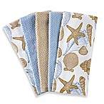 Shell 5-Pack Kitchen Towel Set in Blue/White