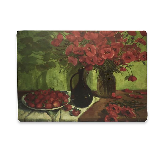 Alternate image 1 for Red Still Life Laminated Placemat