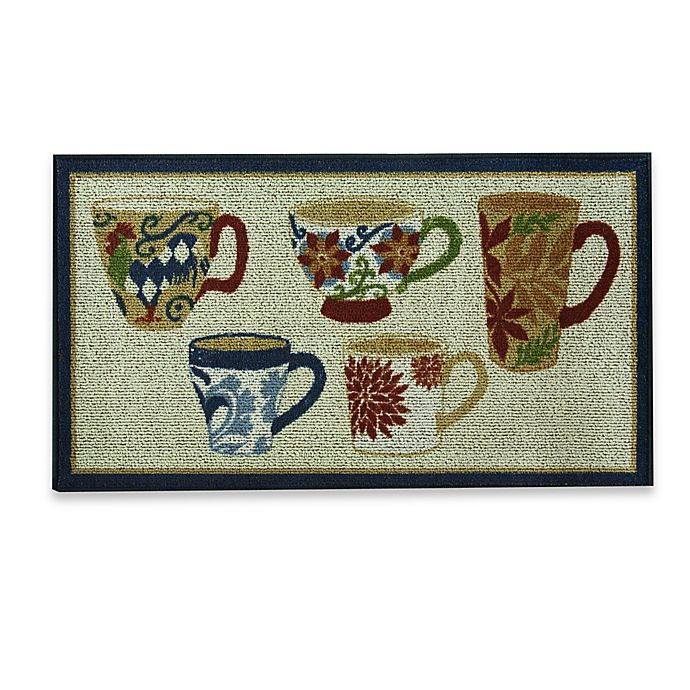 Alternate image 1 for Bacova Coffee 22.4-Inch x 40-Inch Berber Kitchen Rug