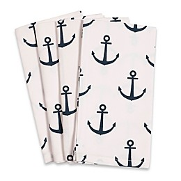 Anchor Fete Buffet Napkins in White (Set of 4)