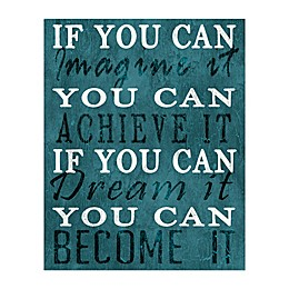 Imagine Dream Achieve Canvas Wall Art