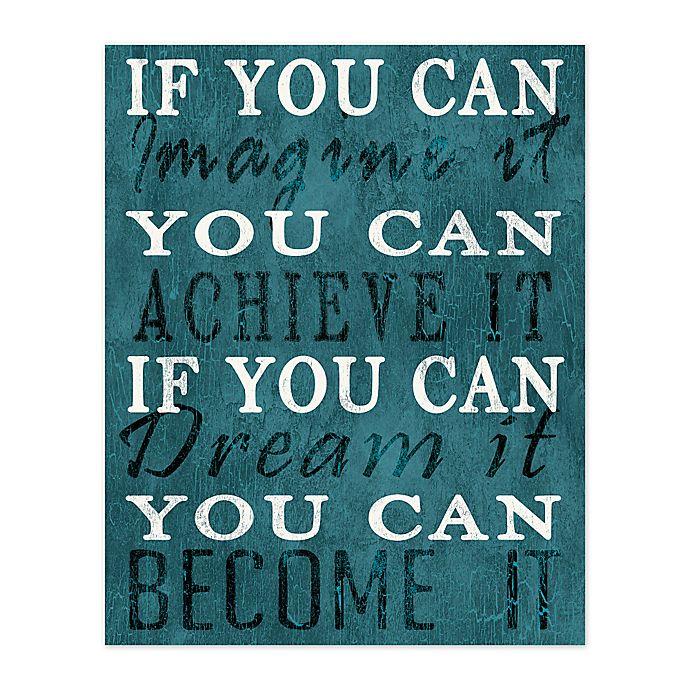 Alternate image 1 for Imagine Dream Achieve 8-Inch x 10-Inch Canvas Wall Art