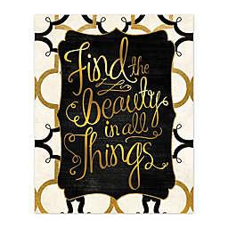 Find Beauty 8-Inch x 10-Inch Canvas Wall Art