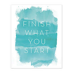 Finish What You Start 16-Inch x 20-Inch Canvas Wall Art