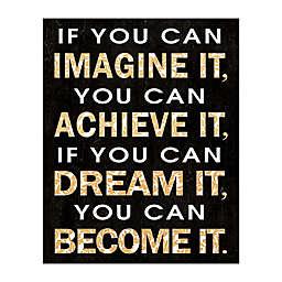 Imagine Dream Become Canvas Wall Art