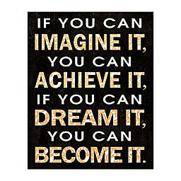 Imagine Dream Become 16-Inch x 20-Inch Canvas Wall Art