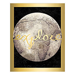 """""""Explore"""" Gold 24-Inch x 30-Inch Canvas Wall Art"""