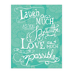 Pied Piper Creative 16-Inch x 20-Inch Love Much Canvas Wall Art
