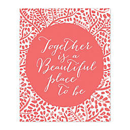 Pied Piper Creative Beautiful Place to Be 16-Inch x 20-Inch Canvas Wall Art