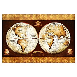 Pied Piper Creative Vintage World Map Canvas Wall Art
