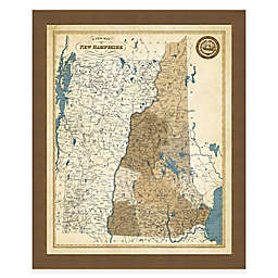Map of New Hampshire Framed Print