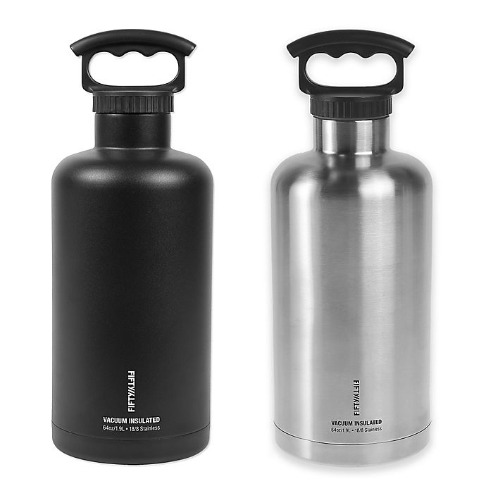 Alternate image 1 for FIFTY/FIFTY Double Wall Vacuum-Insulated 64 oz. Growler