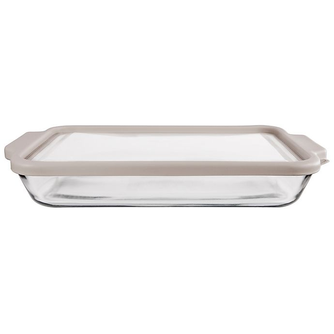 Alternate image 1 for Anchor Hocking® 3-qt. Glass Baker with Pepper True Fit Lid