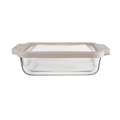 Anchor Hocking® 2-qt. Square Glass Cake Baker with Pepper True Fit Lid