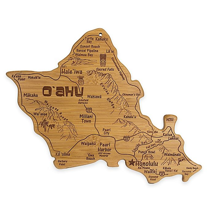 Alternate image 1 for Totally Bamboo Destination Oahu Cutting/Serving Board