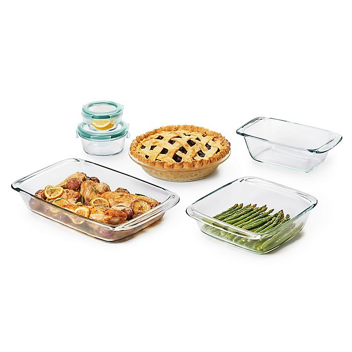 Alternate image 1 for OXO Good Grips® 8-Piece Glass Baking Dish Set with Lids