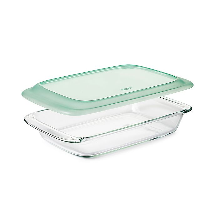 Alternate image 1 for OXO Good Grips® Oblong Glass Baking Dish with Lid