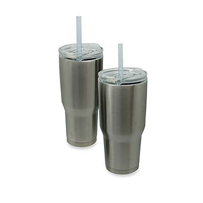 Vacuum-Insulated Metal COLD-1 Tumbler with Straw