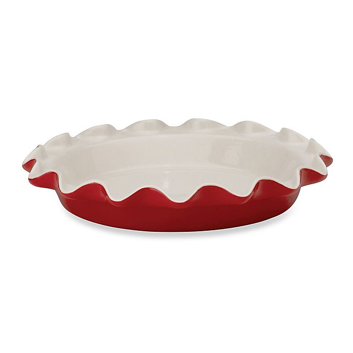 Alternate image 1 for Rose Levy Beranbaum 9-inch Pie Plate in Red