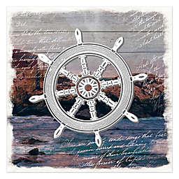 Ship's Helm Canvas Wall Art