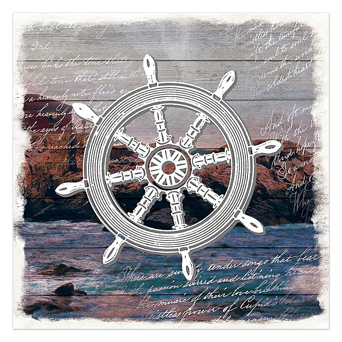 Alternate image 1 for Ship's Helm 36-Inch x 36-Inch Canvas Wall Art
