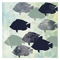 School Of Fish Canvas Wall Art